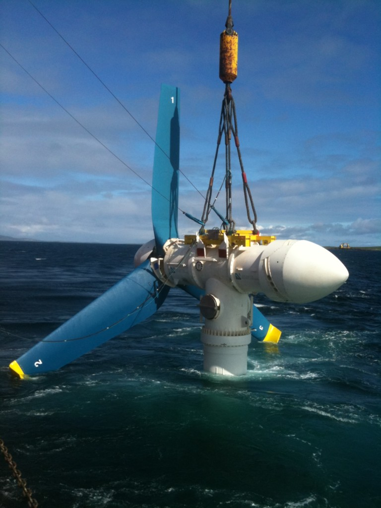 AR1000 Turbine being lowered into the water